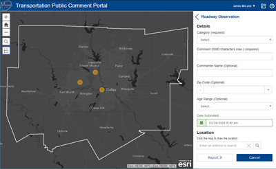 Transportation Public Comment Portal