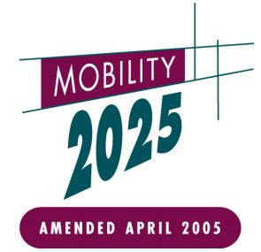 The logo for Mobility 2025 - Amended April 2005