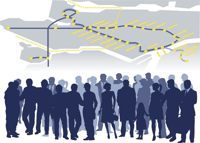 This picture is of people, our community, coming together with the help of transit planning and implementation studies