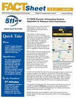 This is a small graphic of the front page of the 511 DFW Fact Sheet