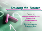 Train the Trainer Presentation
