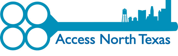 This picture is of a key with the logo that says Access North Texas