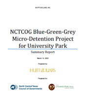 University Park MicroDetention Project Report Cove