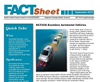 Automated Vehicle Fact Sheet First Page